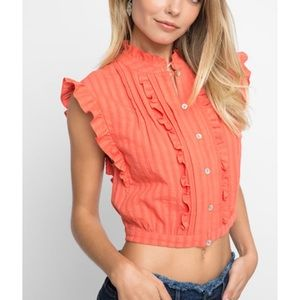 Plenty by Tracy Reese Button Down Crop Top
